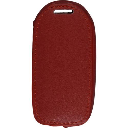 Echtleder Classic Schlüssel Hülle VW Beetle 3-Tasten rot Klappschlüssel