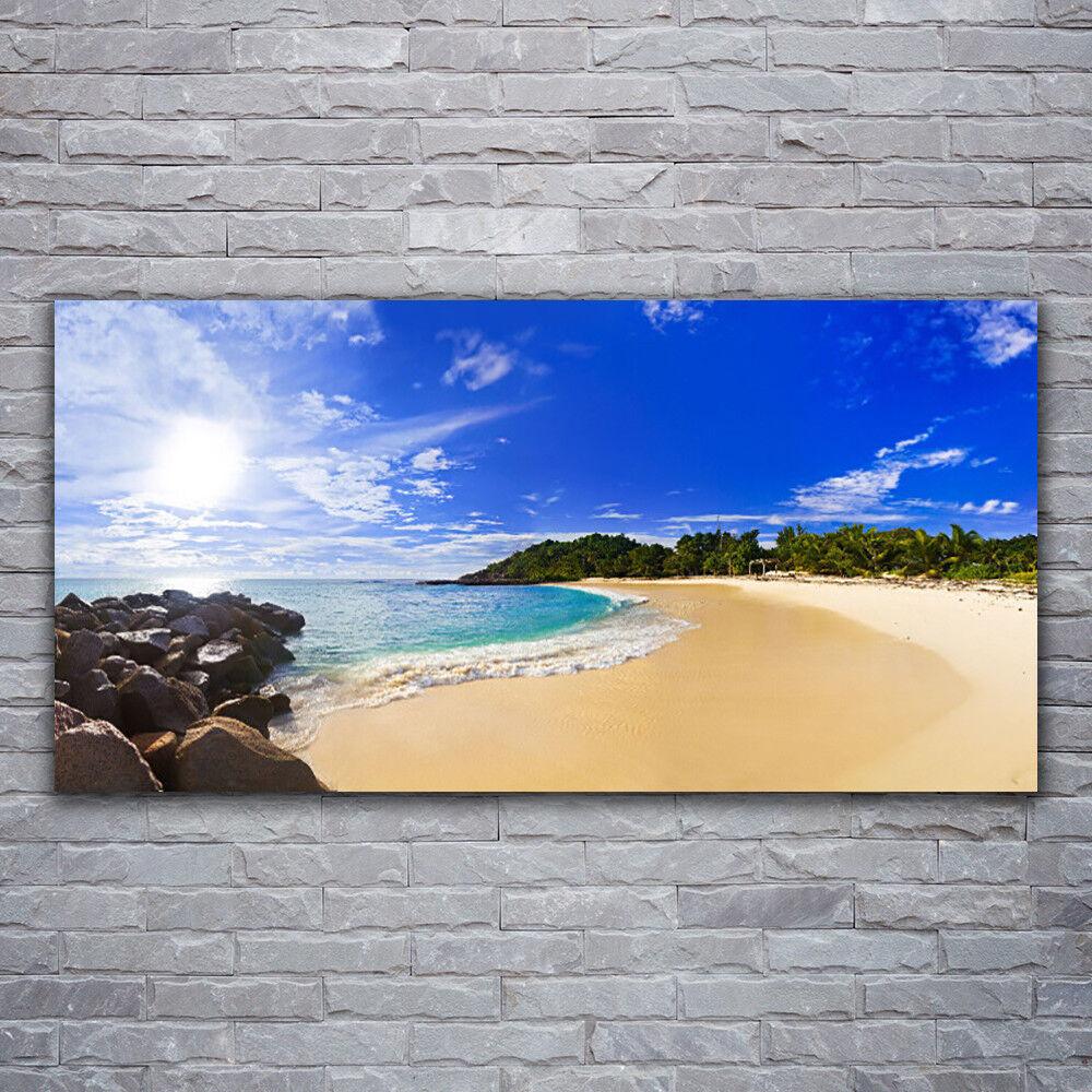 Impression sur verre Wall Art 120x60 Photo Image Soleil Mer Plage Paysage