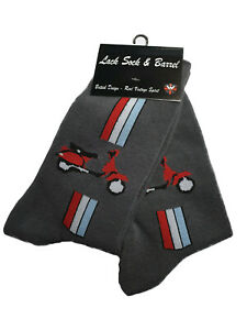 Warrior-UK-England-Vespa-Scooter-Socks-2-Pairs-Doppelpack-Socken-Skinhead-Mod