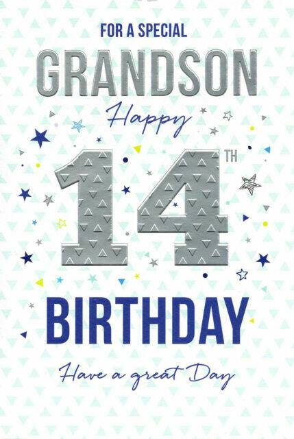 For A Special Grandson Happy 14th Birthday Card For Sale Online Ebay