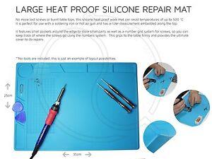Silicone Mat Heat-Resistant Hot air Soldering Station Repair Tool Samsung Pad UK 7625747501240