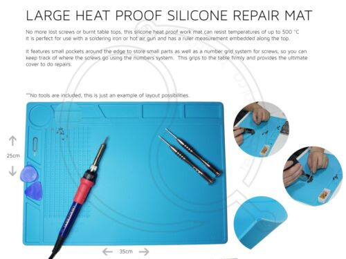 Silicone Mat Heat-Resistant Hot air Soldering Station Repair Tool Samsung Pad UK