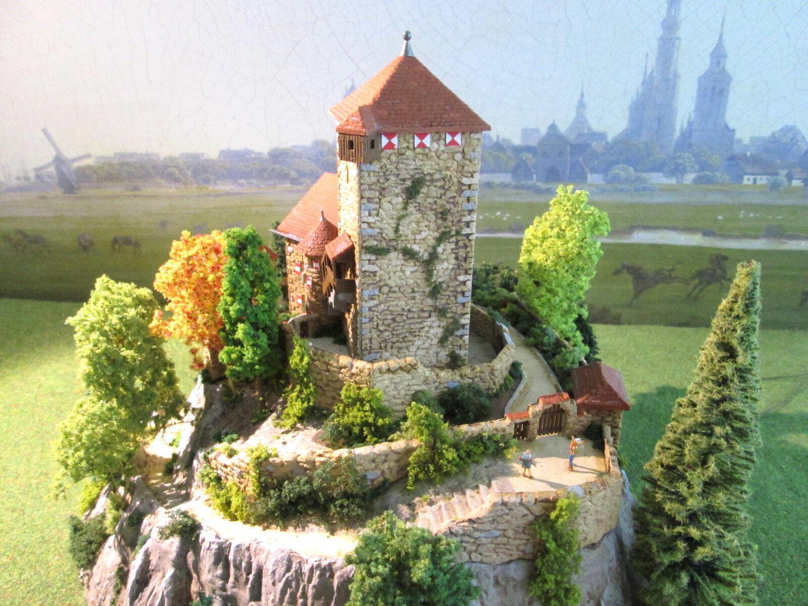 DIORAMA Burg Branzoll  Coloreeeiert patinata LED illuminato beverdet beverdet beverdet  Castle 094 69c907
