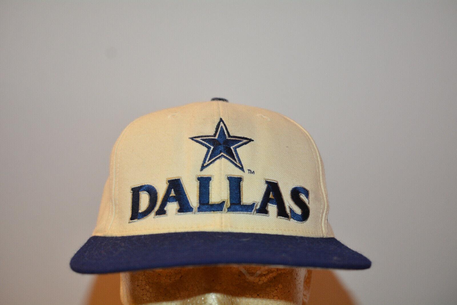 (2) Nike Dallas Cowboys Vintage Snapback Hat 1990s 90s
