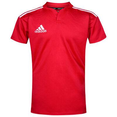 adidas 3 Stripes Herren Rugby Jersey Trikot Kurzarm S M L XL Shirt G70048 neu