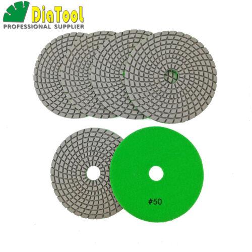 6pcs//pk 5inch Diamond Sanding Disc for Granite Marble Stone Tile Polishing Pads