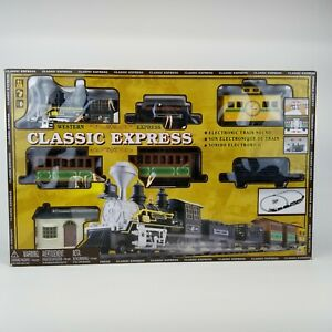 Classic Western Express Locomotive Train Set w/ Sound 29 pc New with Box Damage