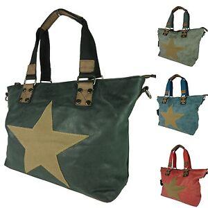 Borsa-a-Tracolla-Stella-per-Donna-Grande-Shopper-Star-Vintage-Borsetta-A251-2