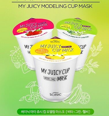 Scinic My Juicy Modeling Cup Mask 25g * 1 ea Vita Juicy Free Shipping