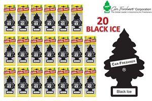 20 X BLACK ICE MAGIC LITTLE TREE CAR/HOME/VAN/OFFICE AIR FRESHENER BULK BUY