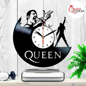 Queen-Freddie-Mercury-LP-Vinyl-Record-Wall-Clock-Best-Decor-Music-Rock-Gifts-Art