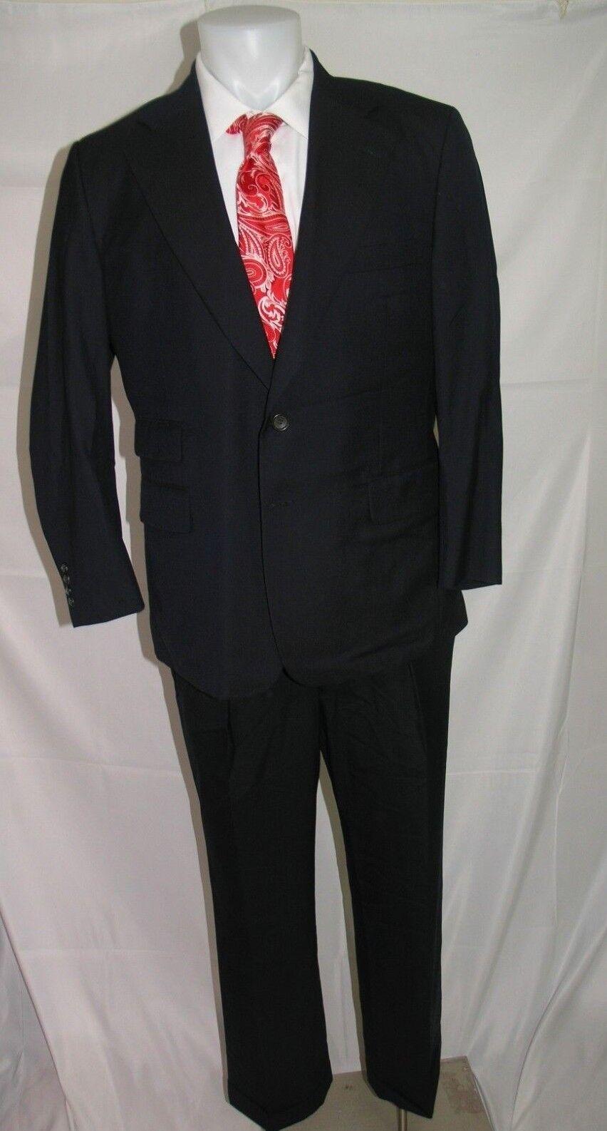 Paul Stuart SB Edward Super 100 Cashmere Blend Two Button Suit 43 S 36 x 29.5