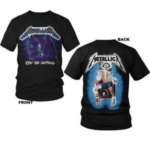 Metallica-Ride-the-Lightning-S-M-L-XL-2XL-3XL-Black-T-Shirt