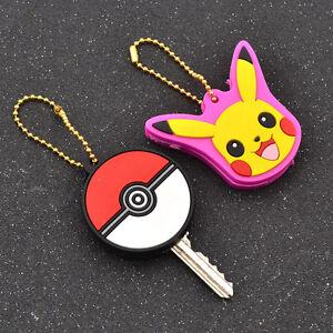 Anime Key Cap Pokemon Pikachu Key Cover Key Holder Poke