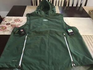 5eef7c25 Details about MENS NIKE NFL New York Jets On Field sleeveless HOODED JACKET  Green 3XL NWT $150