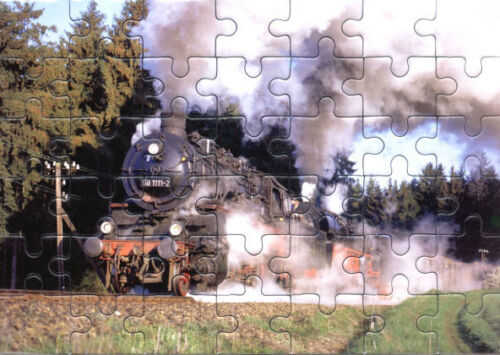 Eisenbahn Kinder-Puzzle  ·  Dampf-Lokomotive 58 1111 DR · NEU//OVP preuß. G12