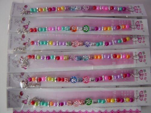 fun bag kids wedding pack Party bag Pretty colourful beads Girls Bracelet