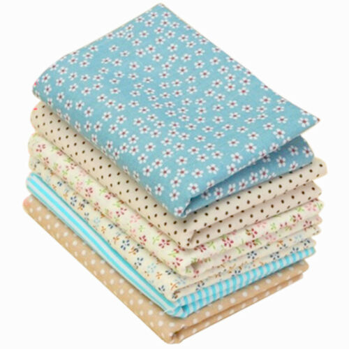 6 PCS 50*50cm Or 25*25cm Fabric Cotton Floral Sewing Quilting Tissue Cloth DIY
