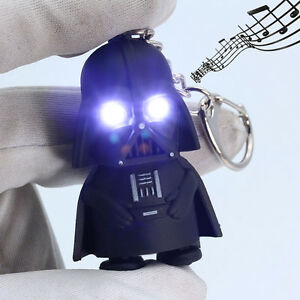 Light-Up-LED-Star-Wars-Darth-Vader-With-Sound-Flashlight-Torch-Keychain-Keyring