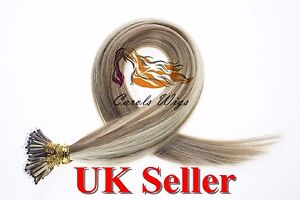 "14""-24"" 1g 7A* Nano Ring Double Drawn Russian/Indian Remy Human Hair Extensions"