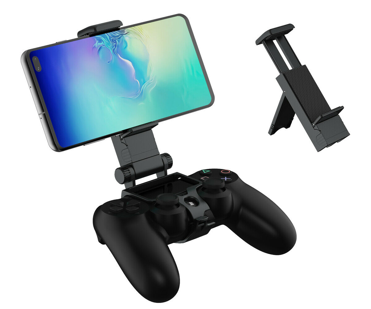 Smart Phone Clip and Tabletop Gaming Stand for Playstation 4 Controllers