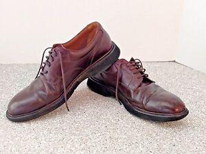 rockport mens shoes oxfords size 9 5 n brown vibram soles