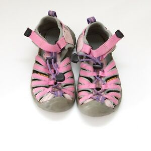 affda60dbb27 Image is loading Keen-girls-pink-water-sandals-shoes-size-11