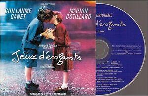 JEUX-D-039-ENFANTS-ost-CD-PROMO-zazie-donna-summer-LA-VIE-EN-ROSE-card-sleeve-FRANCE
