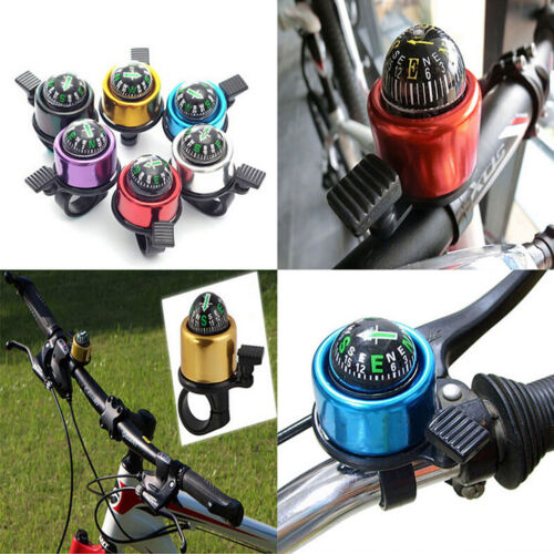 New Bike Road Bicycle Cycling Handlebar Bell Ring Horn With The Compass JD