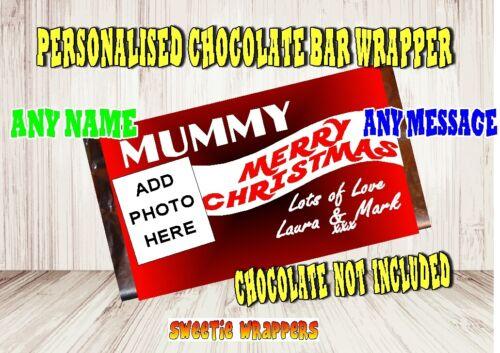 Personalised Wrapper Galaxy Dairy Milk Chocolate Bars add photo Christmas