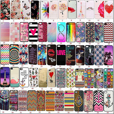 Hot Cool Fashion Patterned Soft TPU Case Cover For Apple iPhone 4 5s SE 5c 6s