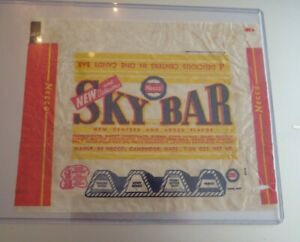 VINTAGE OLD candy bar wrapper new 1st Necco Sky Bar wrapper 1940's