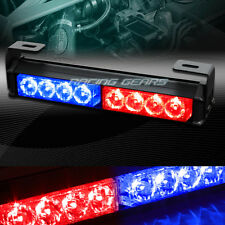 "9.5"" LED RED/BLUE TRAFFIC ADVISOR EMERGENCY WARN FLASH STROBE LIGHT UNIVERSAL 9"