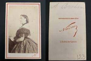 Nadar-Paris-Augustine-Brohan-actrice-Vintage-carte-de-visite-CDV-Josephin