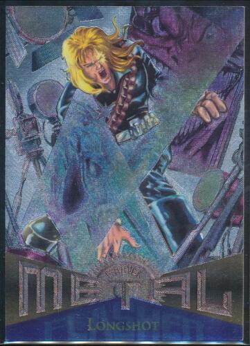 1995 Marvel Metal Silver Flasher Trading Card #102 Longshot