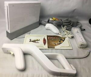 Wii Console RVL-001 Bundle Controller ZAPPER Nunchuck Sensor Links Crossbow Game