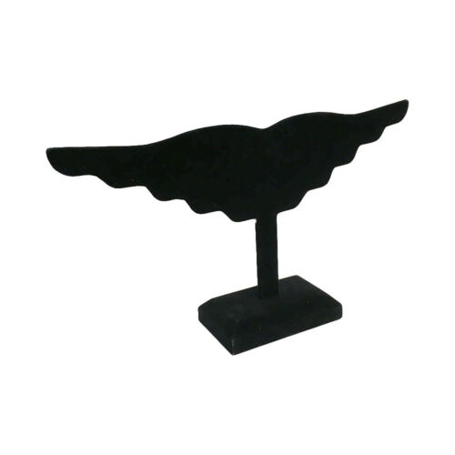 """5 PC 12/"""" Black Velvet Wing Earring Display Stand Holding 10 Pairs Jewelry Holder"""