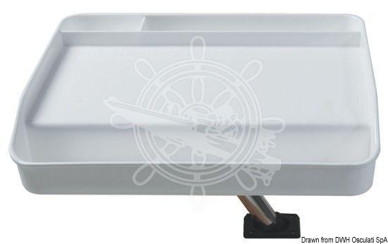 OSCULATI Tablett z.Rehlingsrohr-Befestigung Durchmesser 25mm 700x420mm 700x420mm 25mm c64e0a