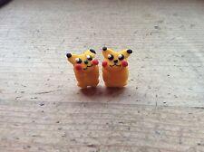 Stud Earrings Pokemon Pikachu Handmade Nickel Free Retro Cute