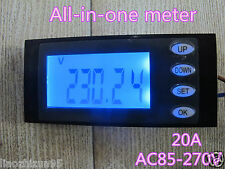 Multimeter AC Digital LCD Power Monitor Voltage KWh time watt Volt Meter Ammeter