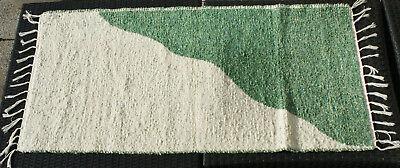 """Badteppich Gewebt """"halb/halb"""" Natur/grün 135 X 65 Cm Teppich Waschbar Einen Einzigartigen Nationalen Stil Haben Teppiche & Teppichböden Systematisch Teppich Badzubehör & -textilien"""