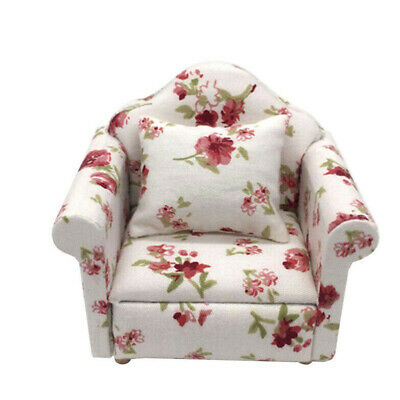 1:12 Dollhouse Miniature Furniture Vintage Sofa Chair Armchair Couch Decor Toy