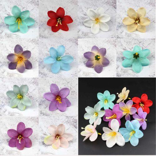 10//100Pcs lily Artificial Flower Head Silk Heads Bulk Wedding Party Home Decor
