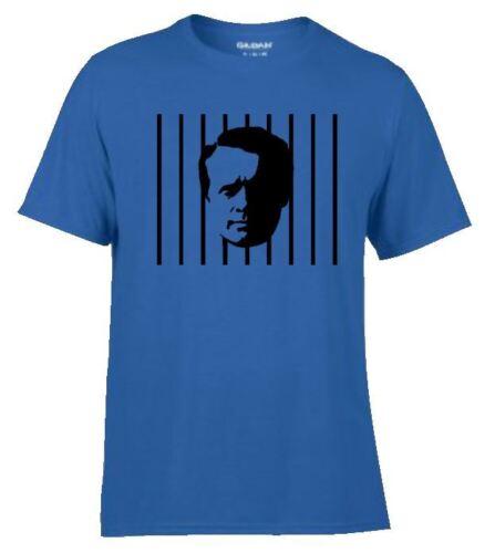 Patrick McGoohan Cult TV Series The PRISONER prison bars Number 6 Men`s T Shirt