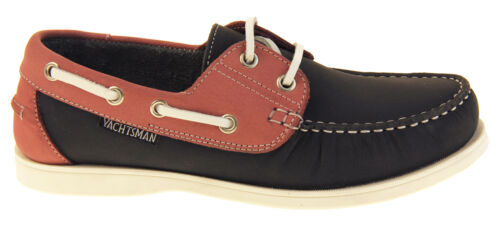 Womens Leather YACHTSMAN Smart Boat Formal Moccasins Lace Up Sailing Deck Shoes