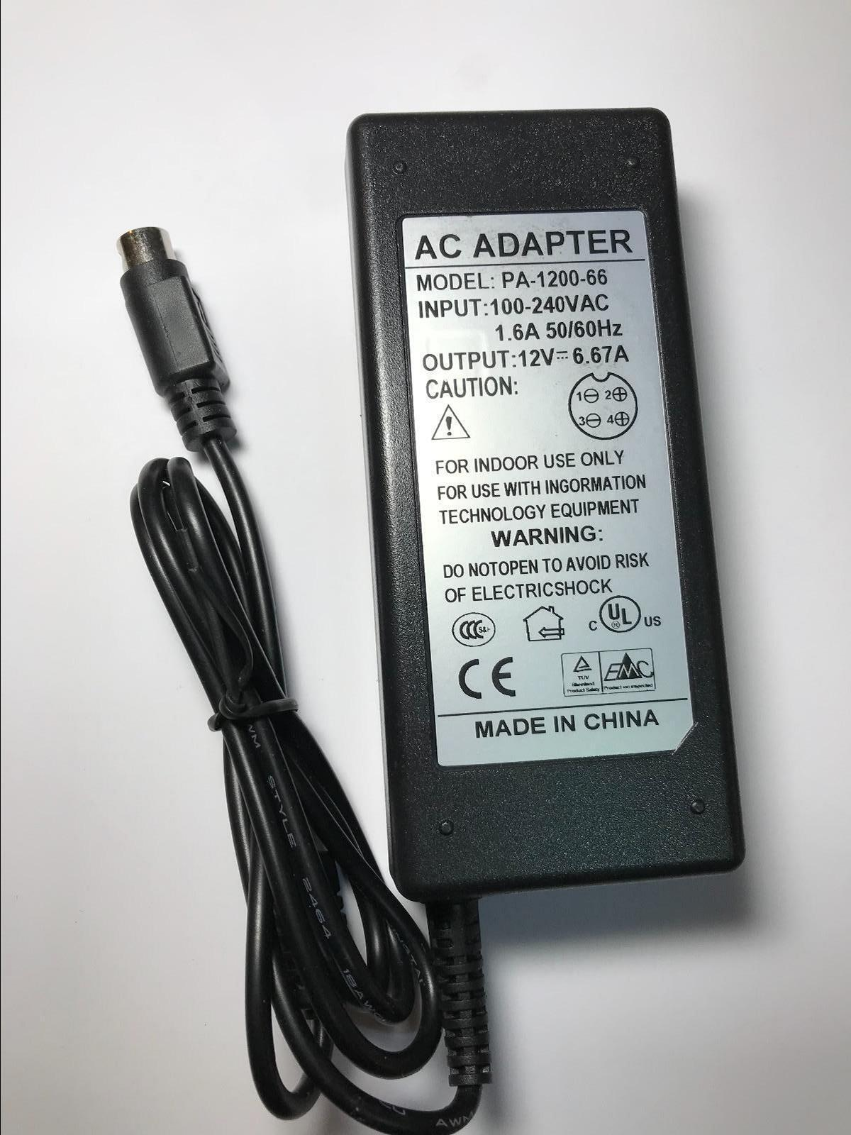 12V 4A AC/DC Adapter Power Supply for Samsung DVR Model SHR-6042P SHR-6042 CCTV