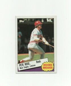 1985-Topps-Pete-Rose-Record-Breaker-Baseball-Card-6-Cincinnati-Reds-MINT