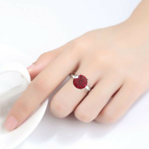 Simulated Indian Ruby 925 Sterling Silver Ring Jewelry Size 6-9 DRR1090/_F