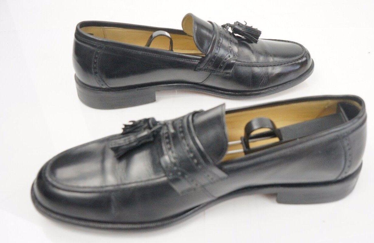 J. Murphy Johnston & Murphy Mens shoes Apron Toe Tassel Loafers Black Size 9M