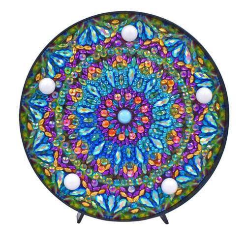 DIY Diamond Painting Light LED Night Embroidery Cross Stitch Craft Decor Lamp
